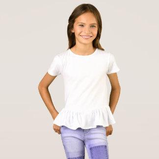 Camiseta T-shirt do plissado das meninas