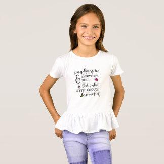 Camiseta T-shirt do plissado das meninas da especiaria da
