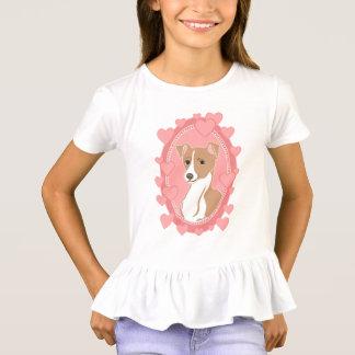 Camiseta T-shirt do plissado das meninas do galgo italiano