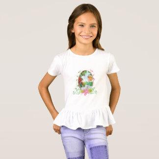 Camiseta T-shirt do plissado das meninas do rei e da rainha