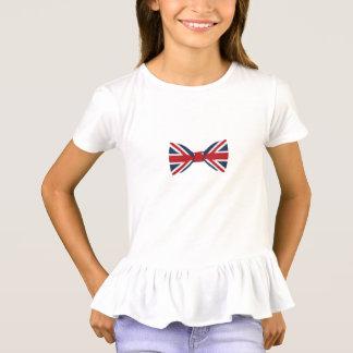 Camiseta T-shirt do plissado das meninas - laço de Union