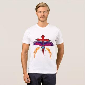 Camiseta T-shirt do Poli-Algodão dos homens de
