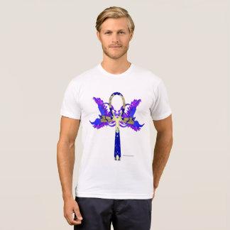 Camiseta T-shirt do Poli-Algodão dos homens de Ankh Phoenix