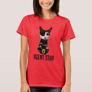 Camiseta T-shirt do pop art da estrela do agente