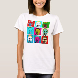 Camiseta T-shirt do pop art de Barack Obama