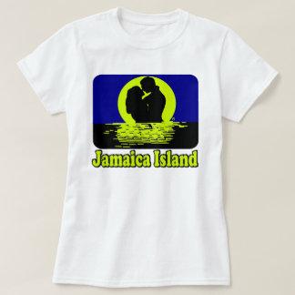 Camiseta T-shirt do por do sol da ilha de Jamaica