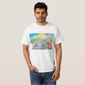 Camiseta T-shirt do por do sol de Mykonos