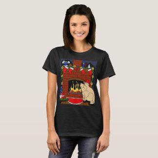 Camiseta T-shirt do porco do Natal