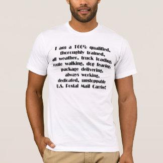 Camiseta T-shirt do portador de correio