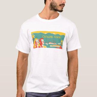 Camiseta T-shirt do poster de viagens da ilha de Catalina