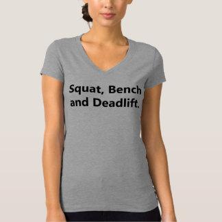 Camiseta T-shirt do Powerlifting das mulheres