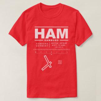 Camiseta T-shirt do PRESUNTO do aeroporto de Hamburgo
