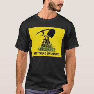 Camiseta T-shirt do preto da bandeira dos mineiros