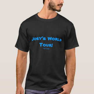 Camiseta T-shirt do preto da excursão do mundo de Joey!