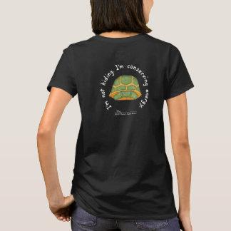 Camiseta T-shirt do preto das mulheres de conservação da