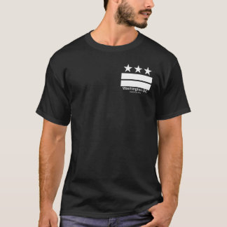Camiseta T-shirt do preto do capital do Washington DC