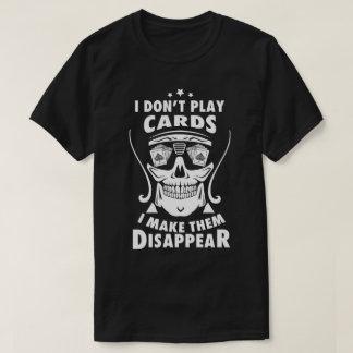 Camiseta T-shirt do preto do mágico do cartão