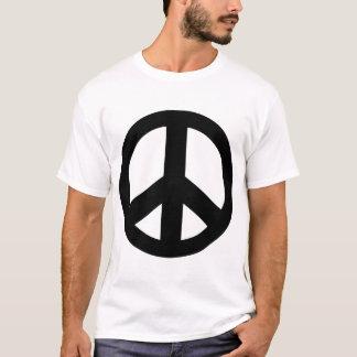 Camiseta T-shirt do preto do símbolo de paz do sinal de paz