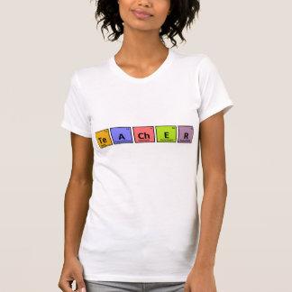 Camiseta T-shirt do professor da mesa periódica