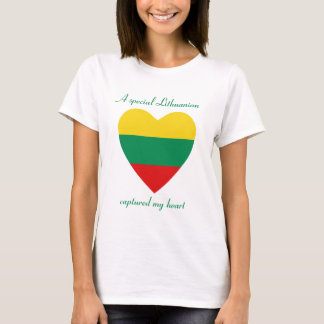 Camiseta T-shirt do querido da bandeira de Lithuania