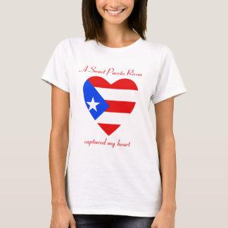 Camiseta T-shirt do querido da bandeira de Puerto Rico
