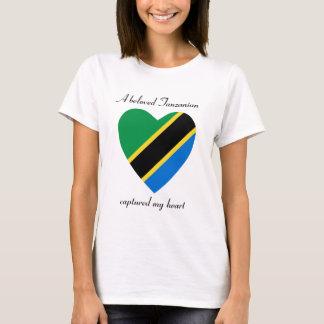 Camiseta T-shirt do querido da bandeira de Tanzânia