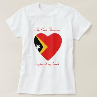 Camiseta T-shirt do querido da bandeira de Timor-Leste