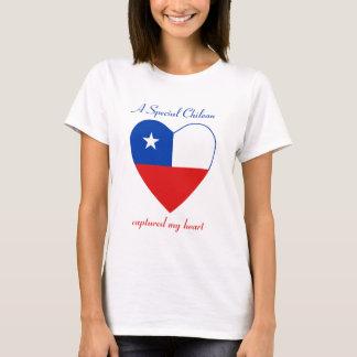 Camiseta T-shirt do querido da bandeira do Chile