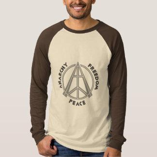 Camiseta T-shirt do Raglan da anarquia & da liberdade & da