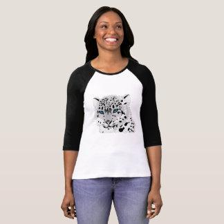 Camiseta T-shirt do Raglan da luva da fêmea 3/4 de