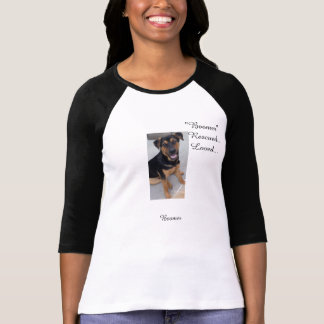 Camiseta T-shirt do Raglan da luva das canvas 3/4 do Bella