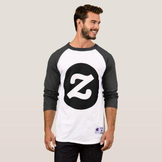 Camiseta T-shirt do Raglan da luva do campeão 3/4 dos