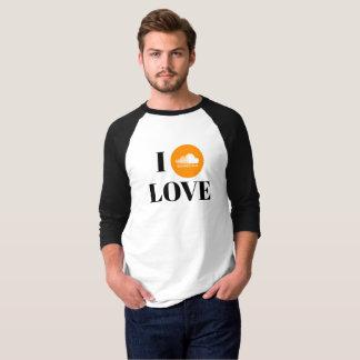 Camiseta T-shirt do Raglan da luva do fã 3/4 de SoundCloud