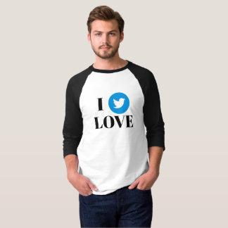 Camiseta T-shirt do Raglan da luva do fã 3/4 do Twitter