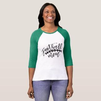 Camiseta T-shirt do Raglan da mamã do futebol
