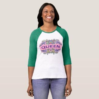 Camiseta T-shirt do Raglan da RAINHA