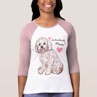 Camiseta T-shirt do Raglan das mulheres da mamã de