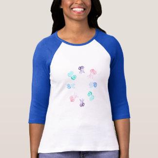 Camiseta T-shirt do Raglan das mulheres das medusa