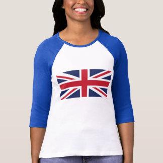 Camiseta T-shirt do Raglan das mulheres de Union Jack