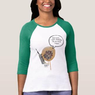 Camiseta T-shirt do Raglan das mulheres do pudim | do