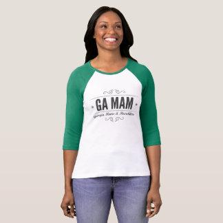 Camiseta T-shirt do Raglan de GA MAM