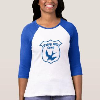 Camiseta T-shirt do Raglan do acampamento das mulheres