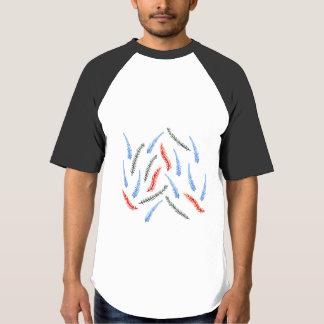 Camiseta T-shirt do Raglan do basebol dos homens do ramo