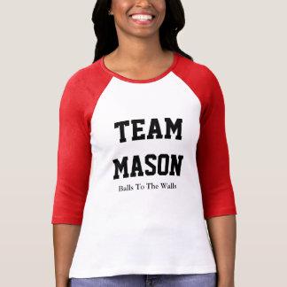 Camiseta T-shirt do Raglan do pedreiro da equipe