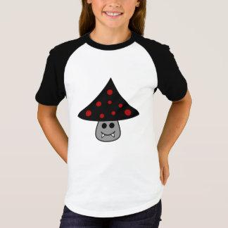 Camiseta T-shirt do Raglan do vampiro do cogumelo (criança)