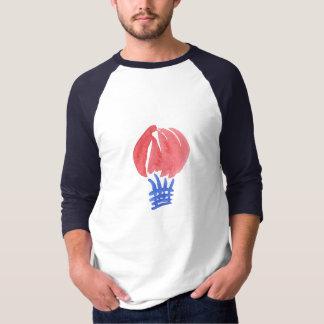Camiseta T-shirt do Raglan dos homens do balão de ar