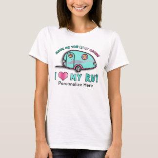 Camiseta T-SHIRT do reboque do viagem da gota rv do rasgo