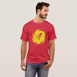 Camiseta T-shirt do redemoinho do amarelo de Wakeboard