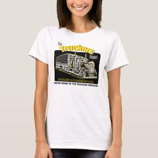 Camiseta T-shirt do relatório dos camionistas das senhoras