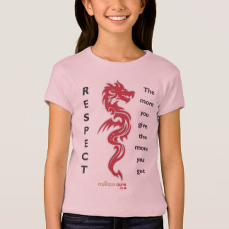 Camiseta T-shirt do respeito do dragão das meninas